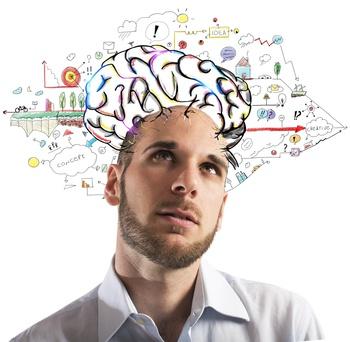Businessman creative mind