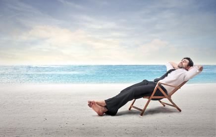 Businessman on summer vacation