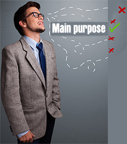 Find your main purpose