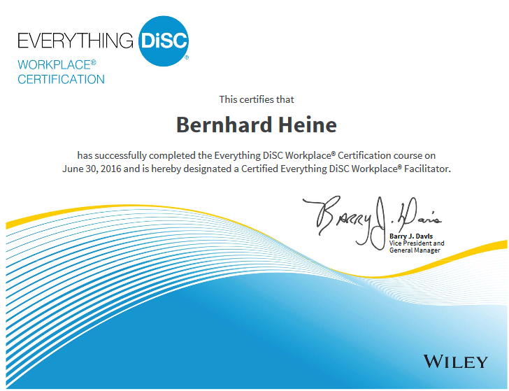 Bernhard Heine - Everything DiSC Workplace Certification