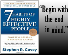 Begin with the End in Mind - Stephen R. Covey